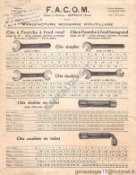 94 445 GENTILLY SEINE 1926  Construction Outillage Mecanique FACOM F.A.C.O.M Succ LEGAT OLIVIER ( Usine à BOURTH EURE 27 - Publicités