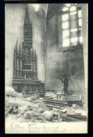 Cpa Du  51  Villers Franqueux  Intérieur De L´ église Détruite Autel St Vincent  .....  Reims  FEV6 - Reims