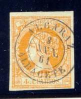 Año 1860 Edifil 52 4c Isabel II  Matasellos Alcaraz Albacete - 1850-68 Royaume: Isabelle II