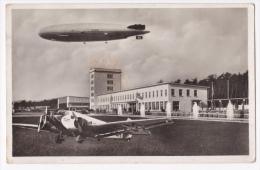 Carte-Montage Photo - Flug Und Zeppelin (croix Gamée) - Hafen - Gaststätten - Frankfurt A. M -  Circulé 1937, Timbre Déc - Frankfurt A. Main