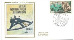 ENVELOPPE 1er  JOUR  BUREAU HYDROGRAPHIQUE INTERNATIONAL  1971 - FDC