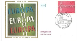 ENVELOPPE 1er  JOUR  EUROPA  1971 - FDC