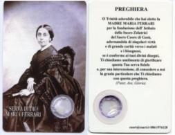 Santino Plastificato SERVA DI DIO MARIA FERRARI Con RELIQUIA (Ex-indumentis) - PERFETTO G13 - Religión & Esoterismo