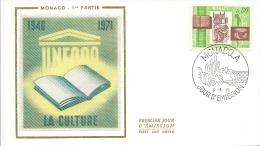 ENVELOPPE 1er  JOUR  LA CULTURE  1971 - FDC