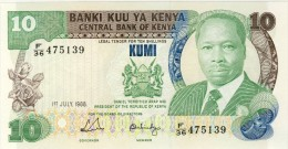 BILLET # KENYA # 10 SHILLINGS  KUMI   # 1988 # PICK 20 # DANIEL T A  MOI # NEUF # - Kenya