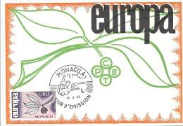 CARTE MAXIMUM  1er  JOUR   EUROPA  1965 - FDC