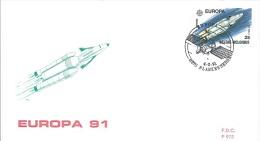 ENVELOPPE 1er JOUR  EUROPA  1991 - 1961-70