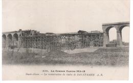 CPA VIADUC DANNEMARIE RECONSTRUCTION GUERRE 1914 1915 - Puentes