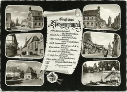 AK Herzogenaurach Marktplatz Rathaus Freibad Fehnturm Mehrbild ~1960 #1893 - Herzogenaurach