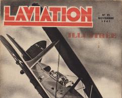 L´AVIATION ILLUSTREE Avion Curtiss Stuka Americain Vol à Voile Belge Avions Américains - Libri, Riviste, Fumetti