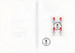 ★ FRANCE - DOCUMENT - JEUX OLYMPIQUES ALBERTVILLE - ECUSSON - Winter 1992: Albertville