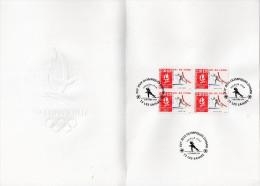 ★ FRANCE - DOCUMENT - JEUX OLYMPIQUES ALBERTVILLE - SKI DE FOND - NUMEROTE - Winter 1992: Albertville