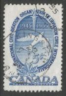 Canada. 1955 10th Anniv Of International Civil Aviation Organisation. 5c Used - 1952-.... Reign Of Elizabeth II