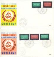 2 FDC´s 1966 - Suriname ... - 1975