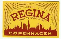 PUBLICITE HOTEL REGINA COPPENHAGUE - Hotel Labels