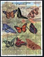 Erythrée Papillons Feuillet De 9 Timbres 1997 ** Butterflies Eritrea Nine Stamps Sheetlet ** - Eritrea