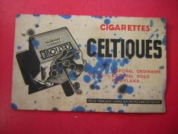 BUVARD  CIGARETTES CELTIQUES  CAPORAL ORDINAIRE CAPOPRAL DOUX MARYLAND  REGIE FRANCAISE CAISSE AUTONOME D'AMORTISSEMENT - Tobacco