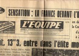 L'Equipe Du Lundi 3 Aout 1970 - Periódicos