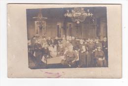 22484 Carte Photo -militaria Hopital Militaire Chambree Malade Guerre 1914 Chateau