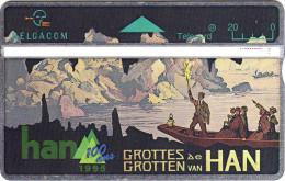 Belgique. Grottes De Han. Bateau Sur L'étang Dans La Grotte - BD