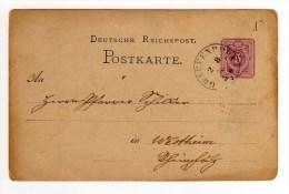 ENTIER POSTAUX DE 1876 - Allemagne