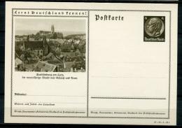 """German Empires,DR 1934 GS Mi.Nr.P236/37-89-1-B1 """"Lernt Deutschland Kennen-Quedlingburg,Ansicht Mit Do """" 1 GS Ungebraucht - Postwaardestukken"""