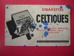 BUVARD  CIGARETTES CELTIQUES  CAPORAL ORDINAIRE CAPOPRAL DOUX MARYLAND  REGIE FRANCAISE CAISSE AUTONOME D´AMORTISSEMENT - Tobacco