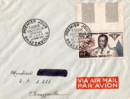 - Oblitération De 1955 à  BRAZZAVILLE - 138 - Congo - Brazzaville