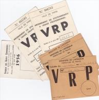 CARTES DE VRP STATIONNEMENT VILLE DE PARIS  ANNEES 80 CARTE SYNDICALE AGENTS COMMERCIAUX 1956 - Vieux Papiers