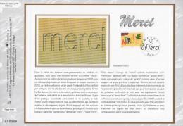 """Feuillet CEF 1° Jour N°té En Soie De 2003 """" MERCI  """". N° YT 3540. Parfait état ! - Postdokumente"""