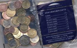 Starterkit 2013 Lettland EURO-Einführung Stg. 45€ Stempelglanz Münze Riga With Sets 1C.- 2€ Coins Of Republik Of Latvija - Lettland