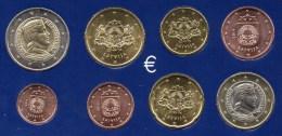 € Neu EURO-Einführung Lettland 2014 Stg 22€ Stempelglanz Der Staatlichen Münze Riga Set 1C.-2€ Coins Republik Of Latvija - Letonia