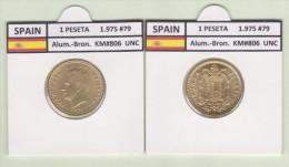 SPAIN   1 PESETA  1.975 #79  Aluminium-Bronze  KM#806   Uncirculated  T-DL-9367 Can. - 1 Peseta