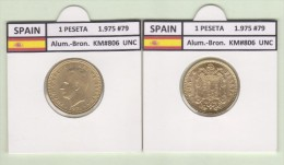 SPAIN   1 PESETA  1.975 #79  Aluminium-Bronze  KM#806   Uncirculated  T-DL-9367 Suiza - [ 5] 1949-… : Royaume