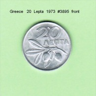 GREECE    20  LEPTA  1973   (KM # 105) - Greece