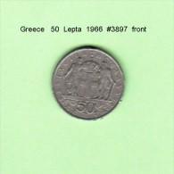 GREECE    50  LEPTA  1966   (KM # 88) - Greece