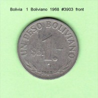 BOLIVIA    1  BOLIVIANO  1968   (KM # 192) - Bolivia