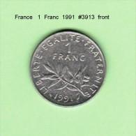 FRANCE    1  FRANC  1991   (KM # 925.1) - France