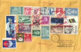 Belle Lettre Philatélique Des Etats-Unis, Adressée En Andorre, Avec Timbres à Date Arrivée Andorre Sur Enveloppe - Covers & Documents