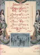 SPORT DIPLOME SEKTIONSLEITER DIPLOM FAHRRAD Jugendstil 1907 Hübsche Mädchen Und Jungen Auf Dem Fahrrad CLUB HIMBERG 1907 - Diplome Und Schulzeugnisse