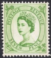 Great Britain, 7 P. 1967, Sc # 363p, Mi # 328yX, MH - 1952-.... (Elizabeth II)
