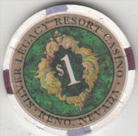 USA - Silver Legasy Resort Casino, Chip $1 - Casino