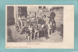 LAITIERE  DE  BRABANT  -  1901  -  POSTEE A ANVERS -  BELLE CARTE PRECURSEUR  - - Belgique