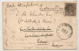 COBHAM VA (Virginie) 1890 Sur Enveloppe Pour PARIS Puis FONTAINEBLEAU. PEU COMMUN - Cartas