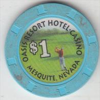 USA - Oasis Resort Casino, Chip $1 - Casino