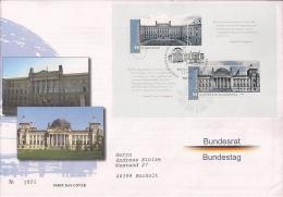 2009  Deutschland Yv BF 75 . Mi Bl. 76 FDC   Deutscher Bundestag Und Bundesrat - [7] Repubblica Federale