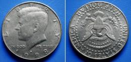 UNITED STATES USA  HALF DOLLAR  ( 1/2 $ ) 1988 P - KENNEDY - 1964-…: Kennedy