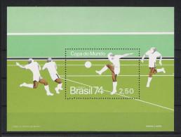 1974 Brasilien Mi# Bl. 34 ** MNH Fußball Football Soccer Sport WM FIFA Deutschland-74 - Coppa Del Mondo