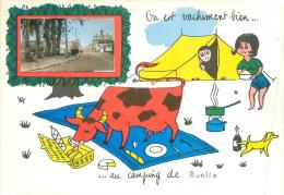 CPSM      Onest Vachement Bien Au Camping De Ruelle      P  302 - Otros Municipios