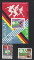 1974 Uruguay Mi# 1302-03 Bl. Mit 1304 ** MNH Fußball Football Soccer Sport WM FIFA Deutschland-74 - Fußball-Weltmeisterschaft